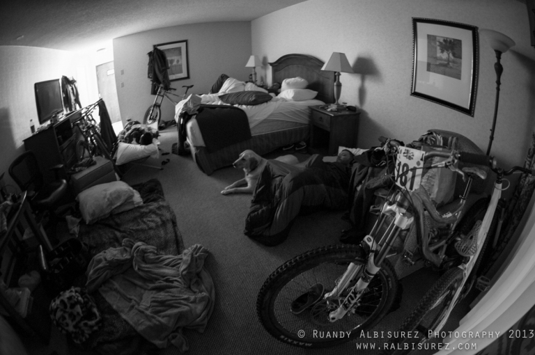 inside of rooms on race weekends
