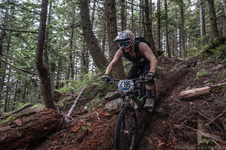 perfect loamy dirt along with an amazing and flowy trail... I'd be smiling too