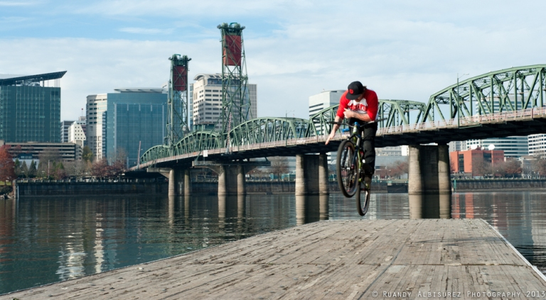 Levi throwing a bar spin at the east bank in Portland, OR.