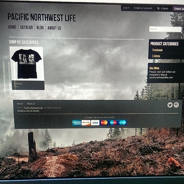 Storefront page for our web-store. www.pnwlife.co
