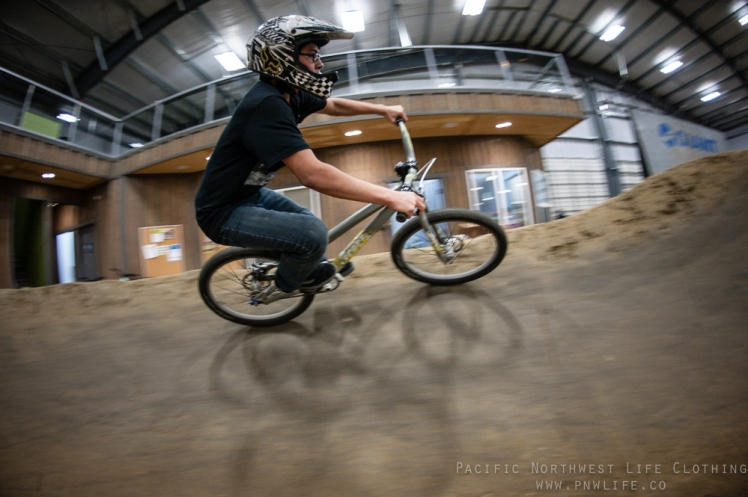 Gordo having some fun out on the pump track.