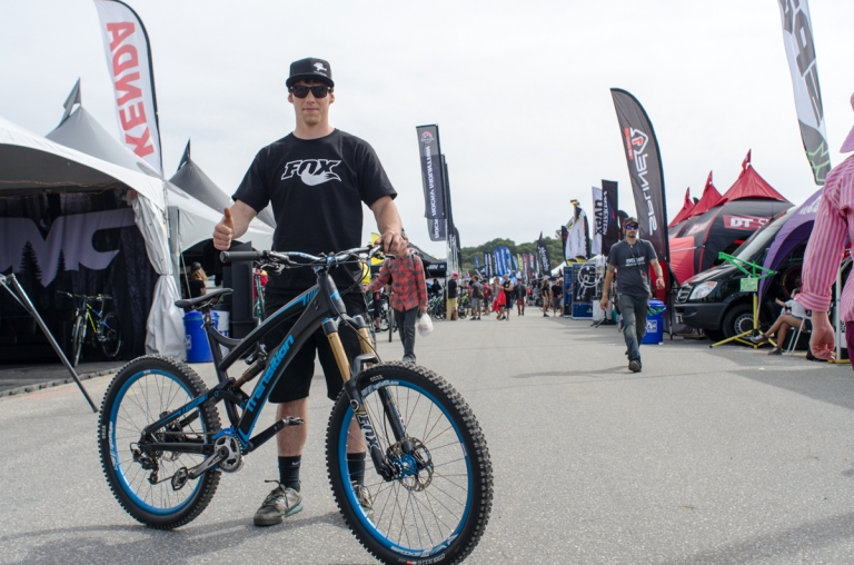 Alex from Madkats stoked with his Transition Covert dressed in Spank Spike Enduro wheels and Bearlaw Spike bars and stem.