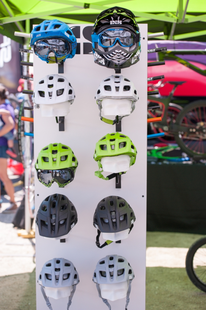 Our iXS helmet display.