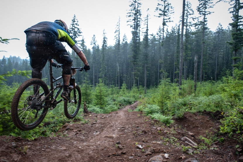 Flying into a redesigned section of Stage 3. Rain or shine is how we roll up here in the PNW!