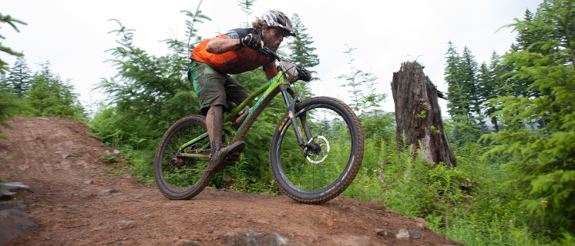 Move over 650B and 29'er wheels! Earth shinguards are the newest fad in mountain biking!!!