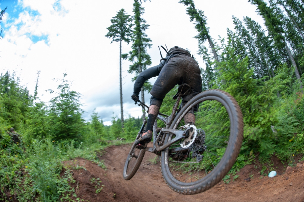 Berm to Berm air time at the bottom of Stage 3!