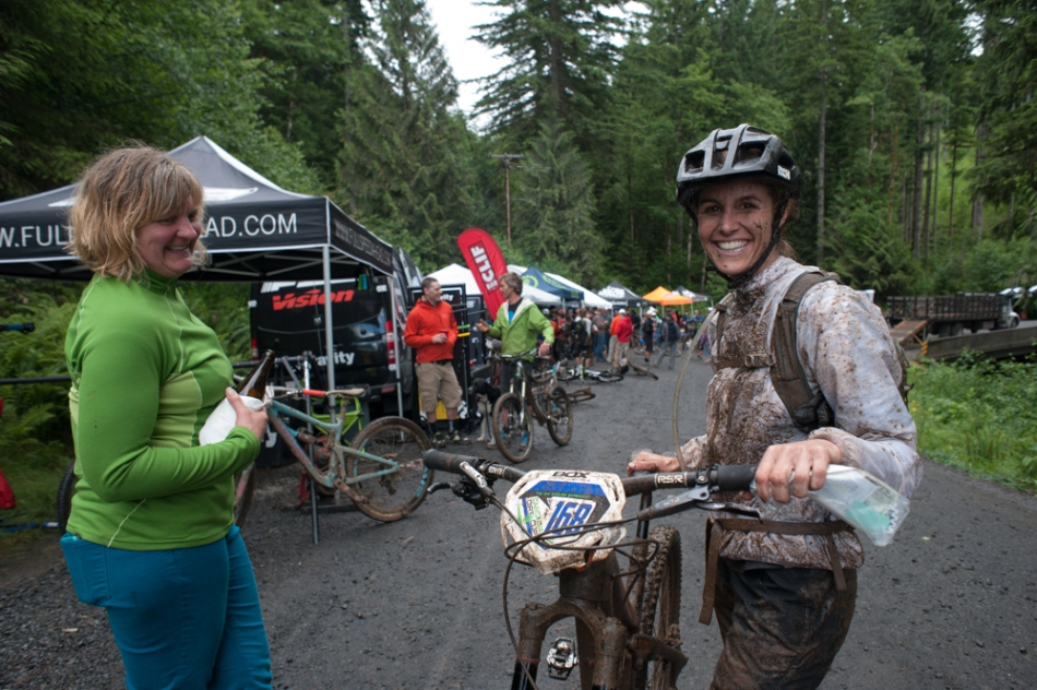 Smiles all around after the end of the last stage.