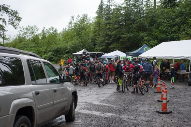 Riders meeting just before the fun
