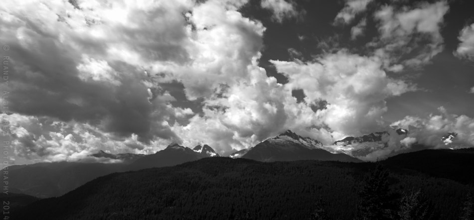 Tantalous Mountain Range near Squamish, B.C. along highway 99