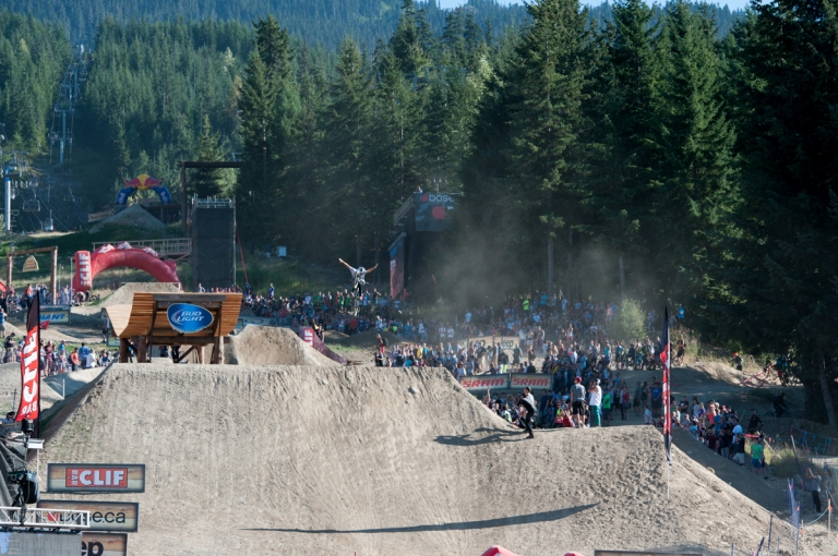 Speed and Style; Tuck No Hander over the final jump.