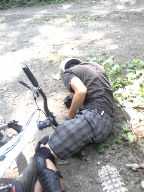 How to take a top tube to the groin.