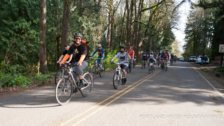 Raul from Santiam Bikes having a good time.