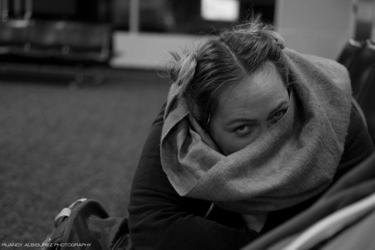 Not being able to comfortably nap at the airport while we waited for our connection to Juneau was frustrating.