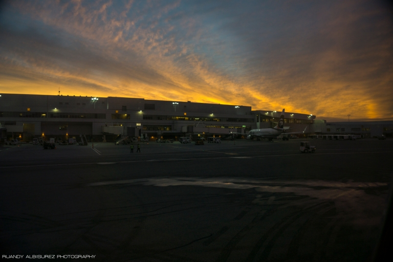Once we were finally boarded and on our way to Juneau we got to see the magnificent sunrise over Anchorage.