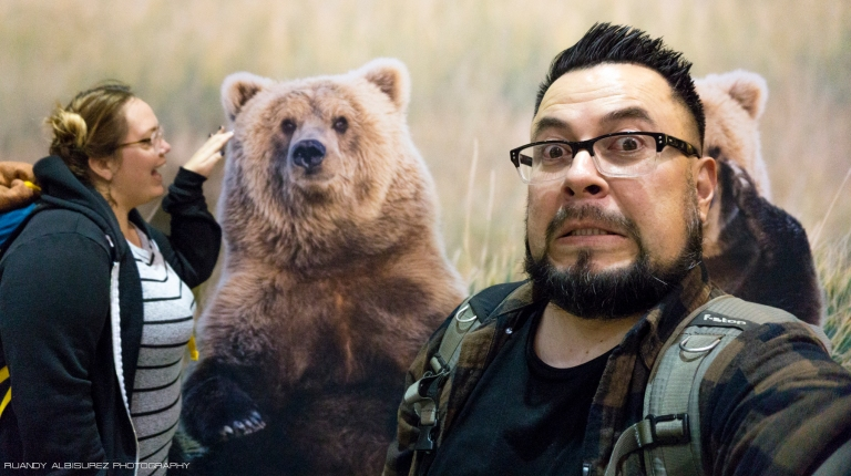 When we eventually made it to the Anchorage airport we first took a picture with the local wildlife before figuring out what we were going to do with the rest of our night. Eventually we made our way to Denny's and pigged out on breakfast before getting back to the airport.