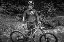 Athletic Portrait with Downhill Racer Nik Clarke